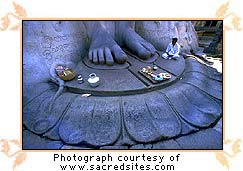 The Holy Feet of the Sri Gomatheswar statue, Sravanabelagola